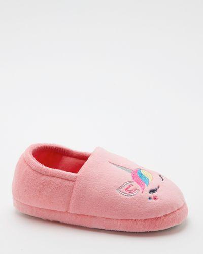 Velour Unicorn Slippers