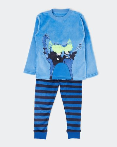 Boys Fluffy Fleece Pyjamas (2-14 years) thumbnail