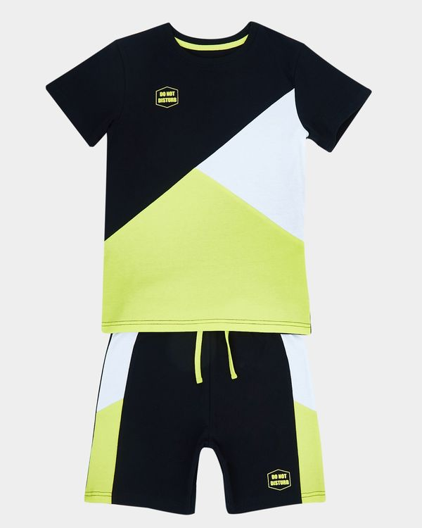 Boys Cut And Sew Short Set (7-14 years)