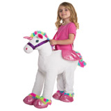 white Unicorn Walk In Costume