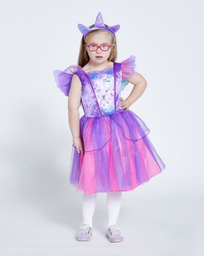 Girls Unicorn Dress And Headband