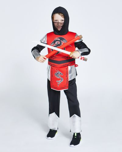 Red Ninja Costume With Sword