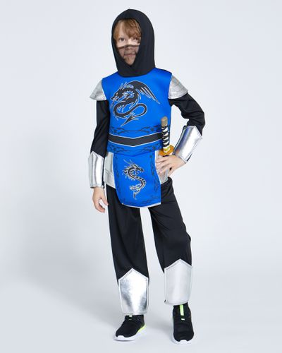 Blue Ninja Costume With Sword