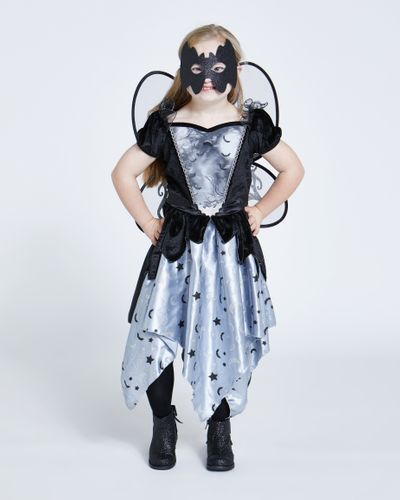 Girls Dark Fairy With Wings