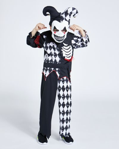 Scary Jester Costume With Mask