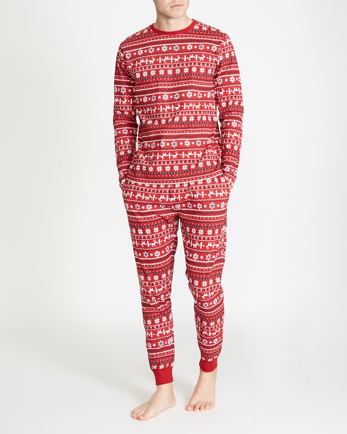 Mens Christmas Pajamas.Mens Christmas Family Pyjamas