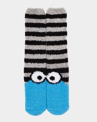 Cookie Monster Fluffy Socks