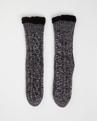 Cable Knit Chunky Socks