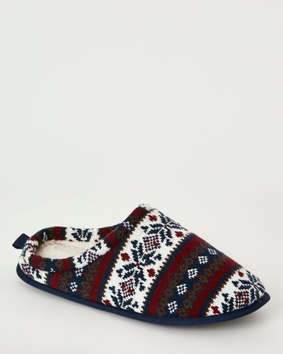 Fairisle Mule Slipper
