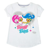white Younger Girls Shimmer And Shine T-Shirt