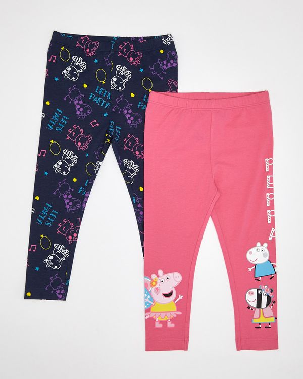 Peppa Pig Leggings - Pack Of 2 (12 months-5 years)
