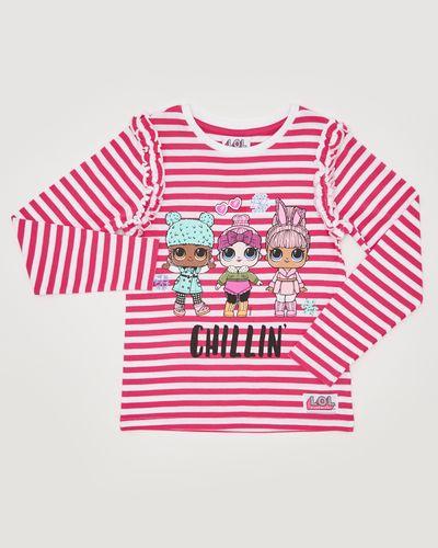 Girls Lol Stripe Top (4-10 years)