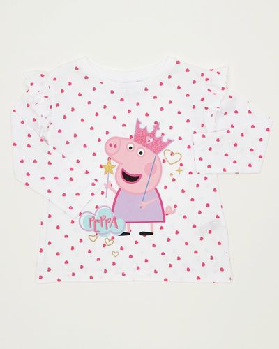 Girls Peppa Heart Top (12 months - 5 years)