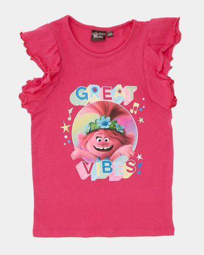 Girls Trolls Frill T-Shirt (4-8 years)