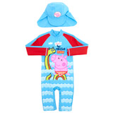 blue-red George Pig Unitard And Hat