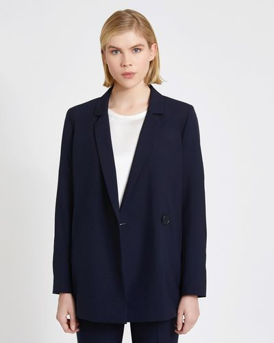Carolyn Donnelly The Edit Wrap Over Blazer