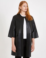 black Carolyn Donnelly The Edit Leather Coat