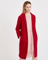 red Carolyn Donnelly The Edit Boiled Wool Coat