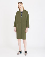 khaki Carolyn Donnelly The Edit Jersey Bonded Coat