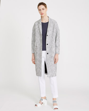 blackCarolyn Donnelly The Edit Textured Waffle Coat