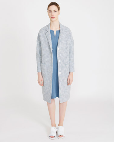 blueCarolyn Donnelly The Edit Textured Waffle Coat