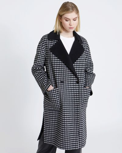 Carolyn Donnelly The Edit Reversible Check Coat
