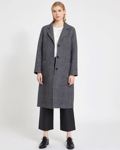 Carolyn Donnelly The Edit Double Layer Tweed Coat