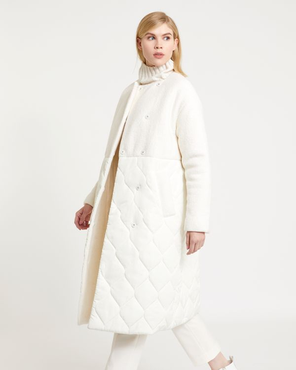 Carolyn Donnelly The Edit Wool Mix Quilted Coat