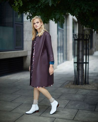 Carolyn Donnelly The Edit Leather Coat