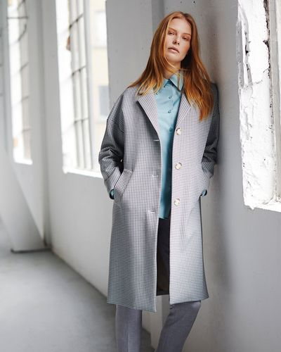 Carolyn Donnelly The Edit Check Coat