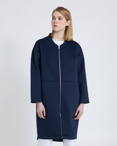 Carolyn Donnelly The Edit Bonded Zip Front Coat