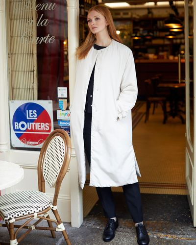 Carolyn Donnelly The Edit Gathered Cuff Quilted Coat