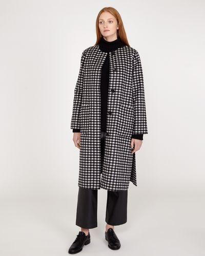 Carolyn Donnelly The Edit Large Check Coat