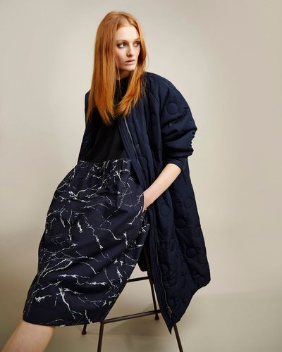 Carolyn Donnelly The Edit Circle Quilted Coat
