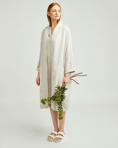 Carolyn Donnelly The Edit Linen Coat