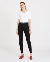 black Carolyn Donnelly The Edit Stripe Trim Leggings