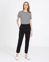 black Carolyn Donnelly The Edit Cotton Jersey Pants