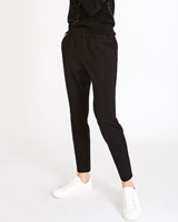 black Carolyn Donnelly The Edit Elastic Waist Trousers