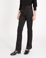 black Carolyn Donnelly The Edit Side Zip Satin Trousers