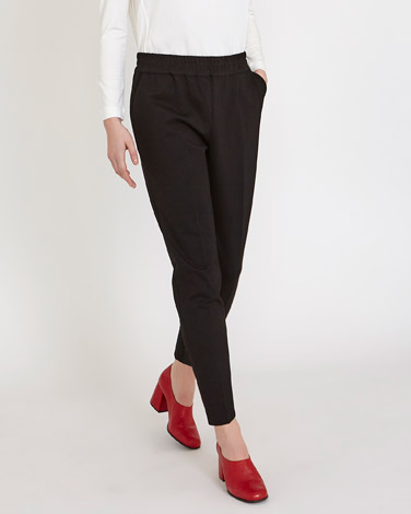 blackCarolyn Donnelly The Edit Elastic Waist Trousers