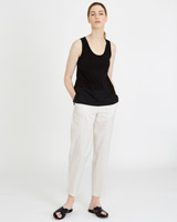 stone Carolyn Donnelly The Edit Cotton Trousers