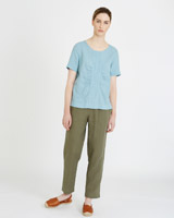 khaki Carolyn Donnelly The Edit Linen Trousers