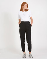 black Carolyn Donnelly The Edit High Waist Trousers