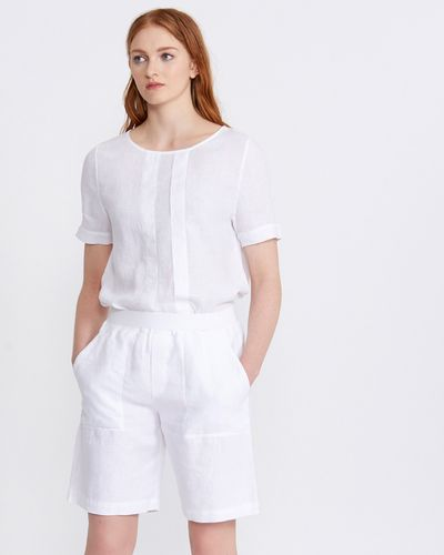 Carolyn Donnelly The Edit Linen Shorts