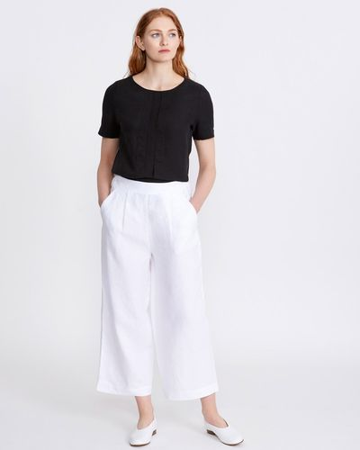 Carolyn Donnelly The Edit Linen Tailored Wide Leg Trouser