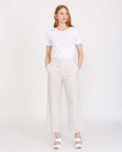 Carolyn Donnelly The Edit Cotton Wide Leg Trouser