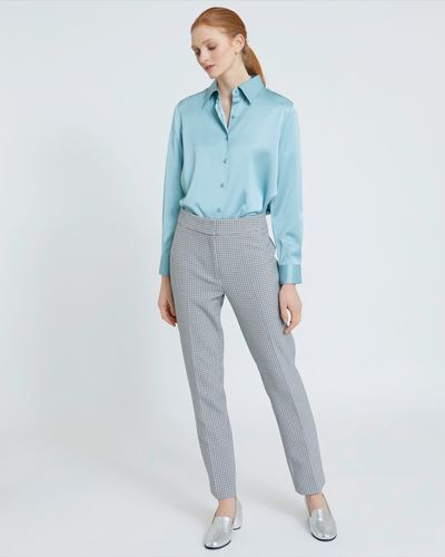 Carolyn Donnelly The Edit Cropped Check Trousers