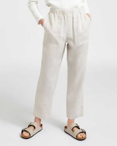 Carolyn Donnelly The Edit Stone Linen Trousers