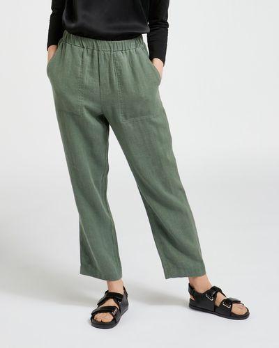 Carolyn Donnelly The Edit Khaki Linen Trousers
