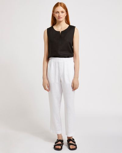 Carolyn Donnelly The Edit White Linen Trousers